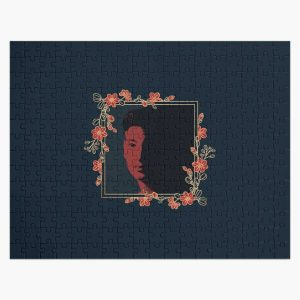 Joji Red Floral Portrait (no font) Jigsaw Puzzle RB3006 product Offical Joji Merch